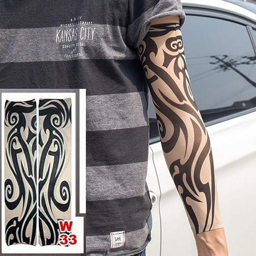tzxdbh 3pc- Nuevas Mangas de Tatuaje Que se extienden 100% Medias ...