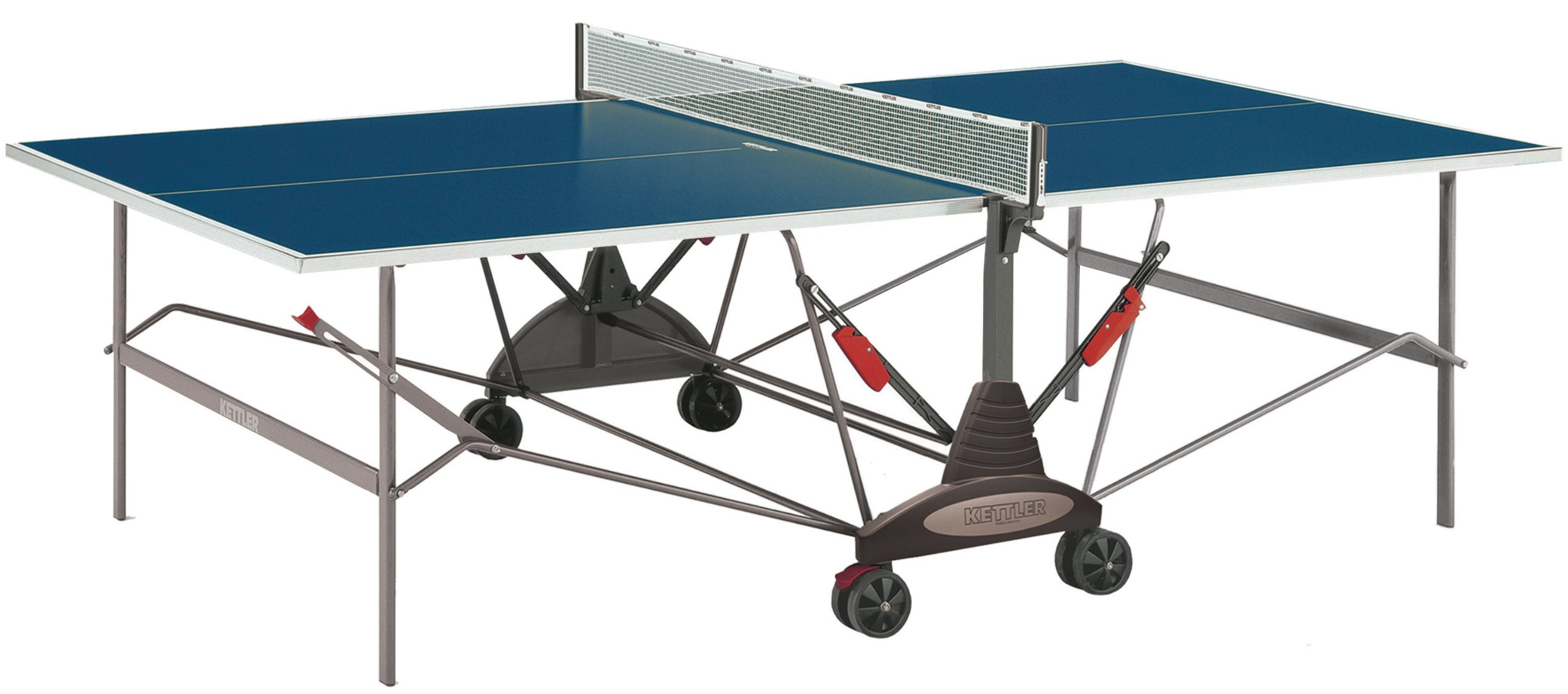 Kettler Stockholm GT Institutional/Tournament Indoor Table Tennis Table, Blue Top