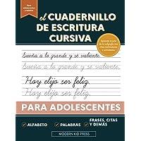 El cuadernillo de escritura cursiva para adolescentes: Aprende el arte de la caligrafía en este manual de escritura…