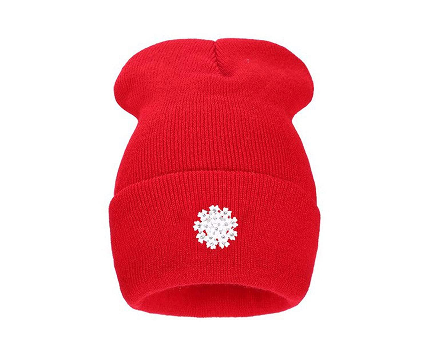 Lovely Knitting Wool Acrylic Beanies Hip Hop One Flower Hats for Women Gorros Bonnets Woman Floral
