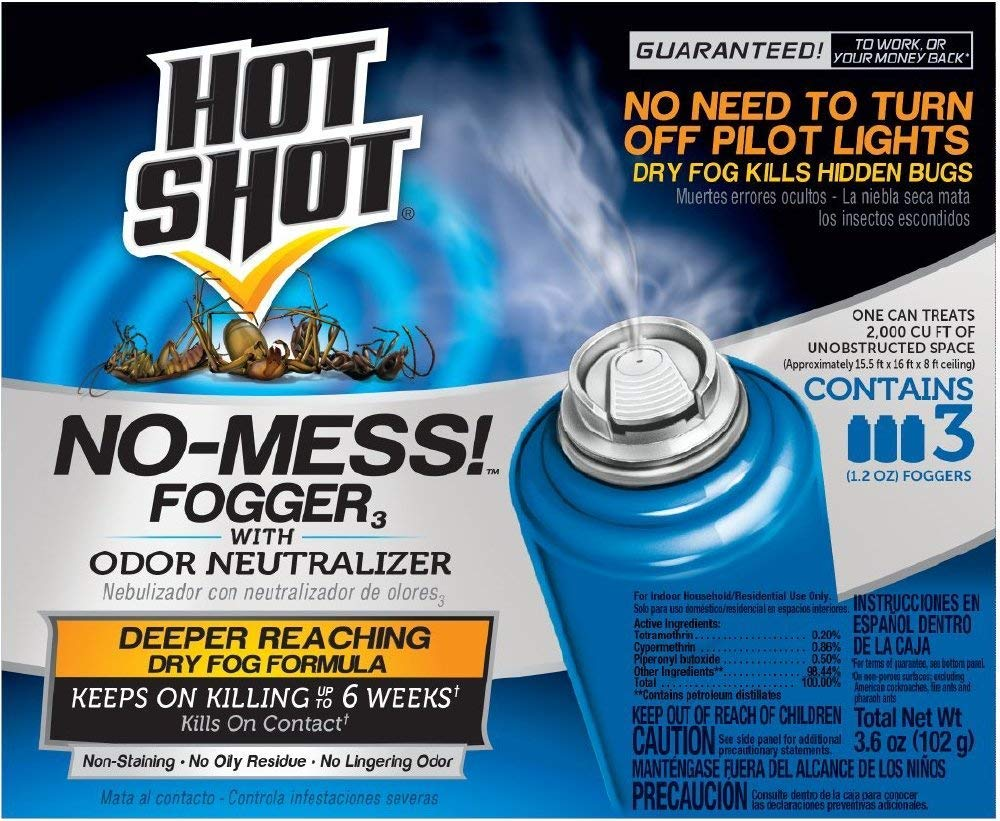 Hot Shot NBDJHHJH 20177 No-Mess! Fogger, 3-Count, 2 Pack