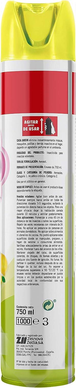 CASA JARDIN | Insecticida Aerosol | Potente Insecticida | Acción Instantánea| Hogar Libre de Insectos | Perfume Limón |Contenido 750 ml | Paquete de 5 Unidades: Amazon.es: Salud y cuidado personal