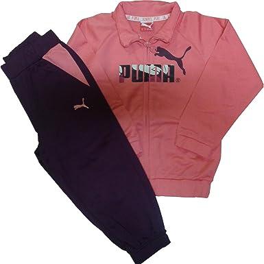 Puma Fitness Chándal, Unisex niños, Rosa/Negro/Blanco, 98: Amazon ...