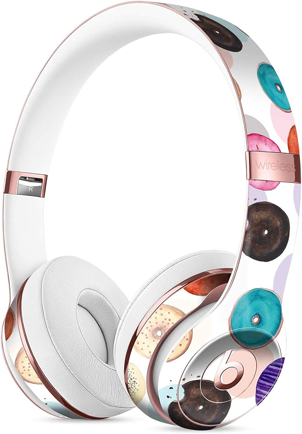 Amazon Com The Colorful Donut Overlay Designskinz Full Body Skin Kit For The Beats By Dre Solo 3 Wireless Headphones Ultra Thin Matte Finished Protective Skin Wrap Home Audio Theater