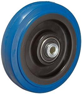 "RWM Casters Signature Premium Rubber Wheel, Precision Ball Bearing, 250 lbs Capacity, 4"" Wheel, Dia, 1-1/4"" Wheel, Width, 1-5/8"" Plate Length"