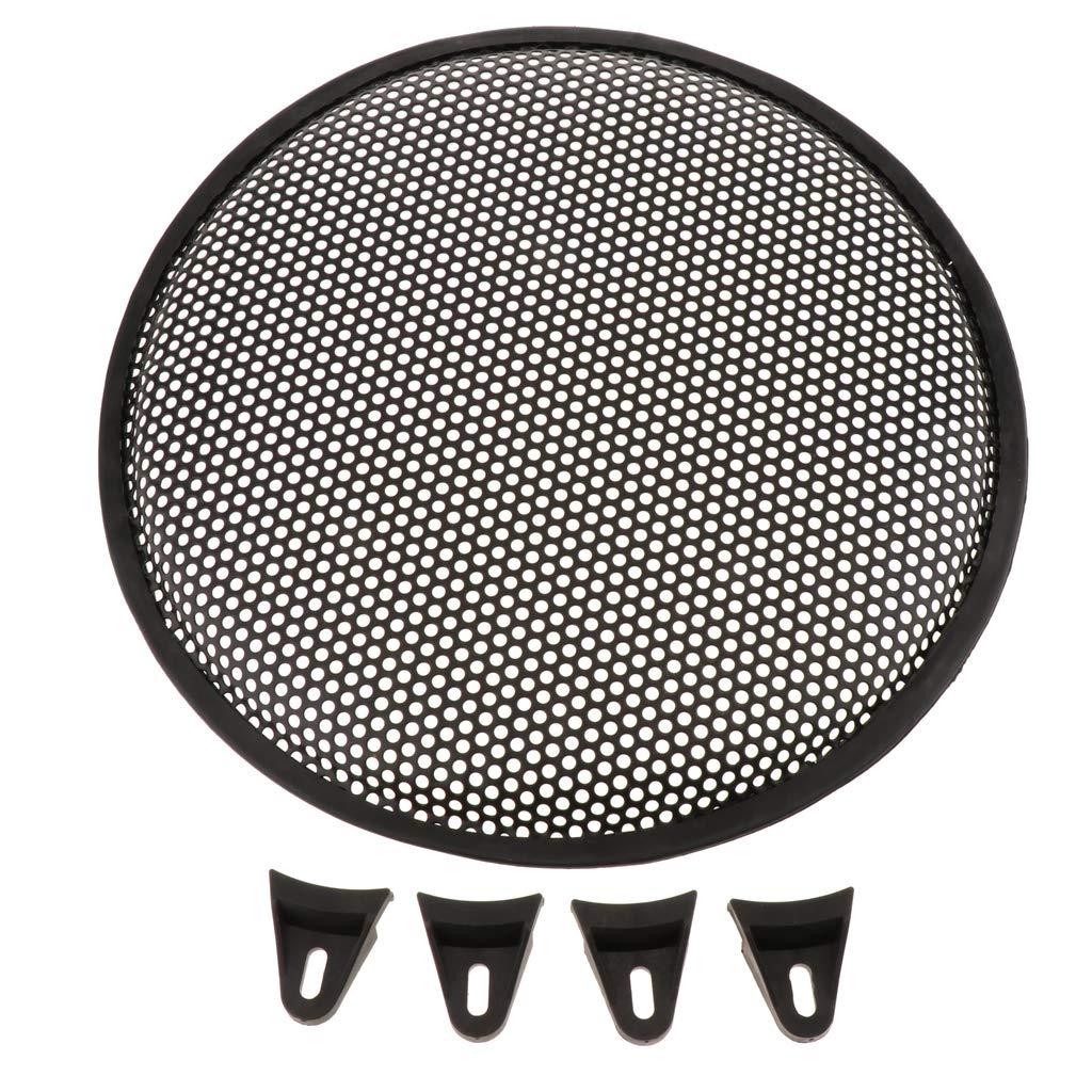 FLAMEER Lautsprecher Gitter Grill Lautsprecherabdeckung Gitter, schwarz, 12 Zoll
