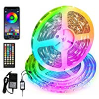 Smart LED Strip Lights 50FT, Sync with Music Flexible Color Changing Tape Lights APP Controlled RGB LED Lights Strip for…