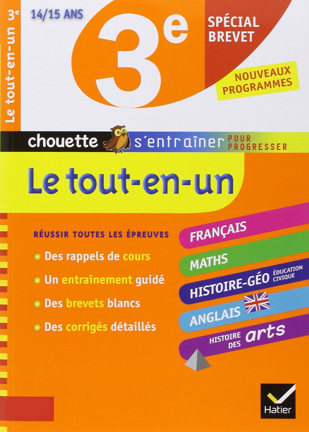 Tout-en-un 3e spécial brevet - Chouette: Français, Maths, Histoire-géo, Anglais, Histoire des arts Chouette Entraînement: Amazon.es: Nicole Nemni-Nataf, ...
