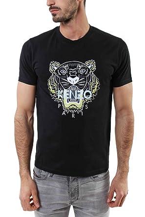bfbb2b54 Kenzo Embroidered Tiger Logo Crew T-shirt XL BLACK: Amazon.co.uk: Clothing