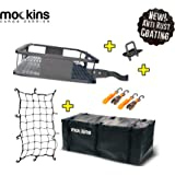 Mockins Hitch Mount Cargo Carrier with Cargo Bag and Net |The Steel Cargo Basket is 60 Long X 20 Wide X 6 Tall with A…