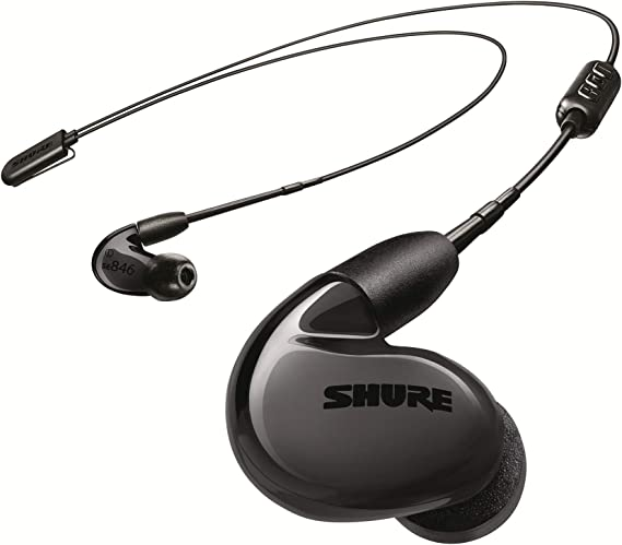 Amazon.com: Shure SE846 BT2 Wireless Sound Isolating Earbuds, Quad High Definition MicroDrivers and True Subwoofer, Bluetooth 5, Secure In-Ear Fit, Detachable Cable, Durable Quality - Black: Musical Instruments