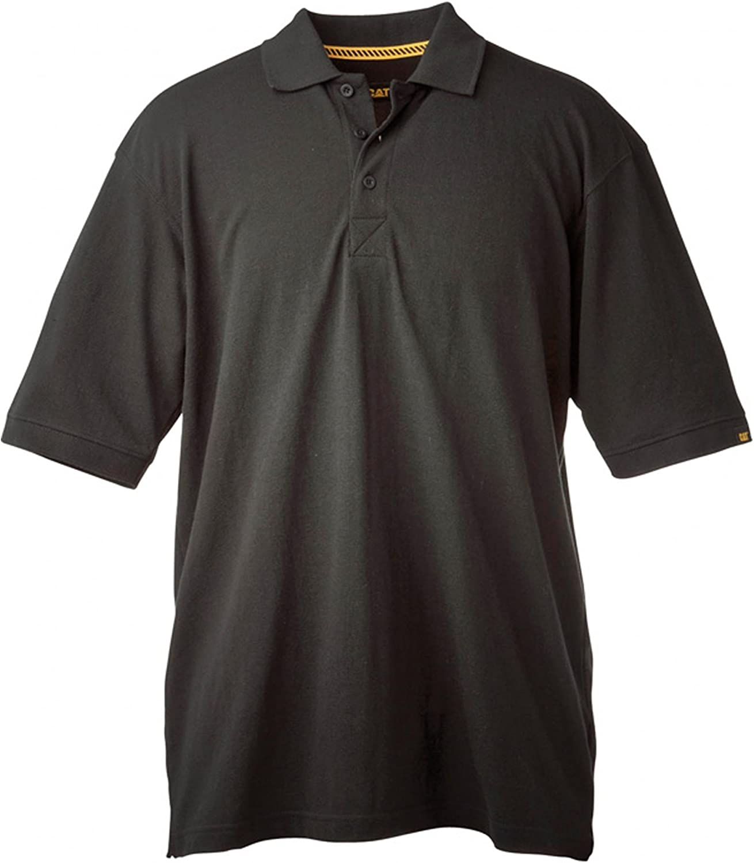 Mens Caterpillar Uniform Polo Shirt - large - Navy: Amazon.es ...