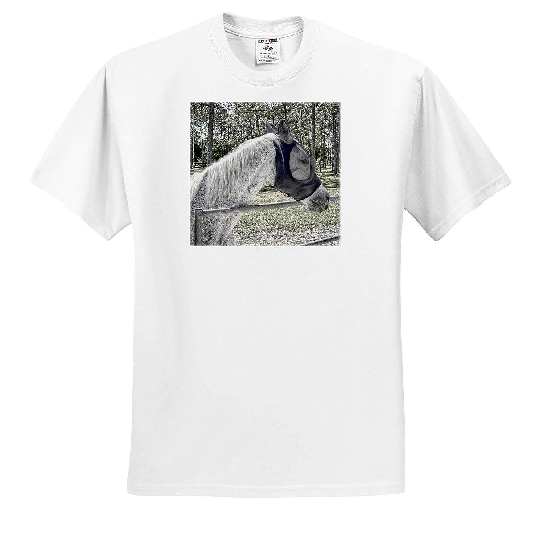 Dappled White Horse Head Equine Animal 3dRose Susans Zoo Crew Animal T-Shirts