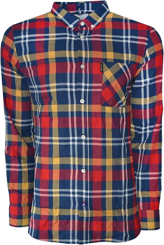 Lambretta - Camiseta de manga larga para hombre con botones frontales: Amazon.es: Ropa y accesorios