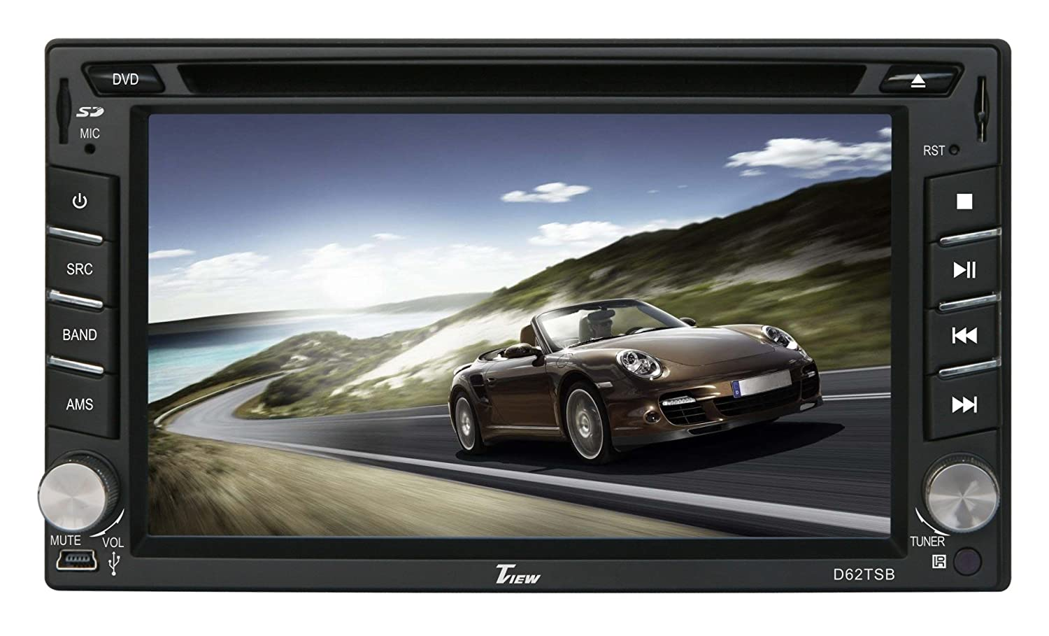 71N8 eVkMJL._SL1500_ amazon com tview d62tsb 6 2 inch double din touch screen with tview d75tsb wiring harness at bayanpartner.co