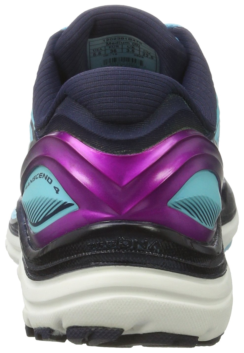 Brooks Women's Transcend 4 Bluefish/Peacoat/Purple Cactus Flower 6.5 B US by Brooks (Image #2)