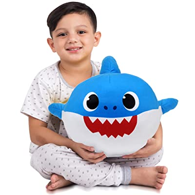 Franco Kids Bedding Soft Plush Cuddle Pillow Buddy, One Size, Baby Shark Blue Daddy: Industrial & Scientific