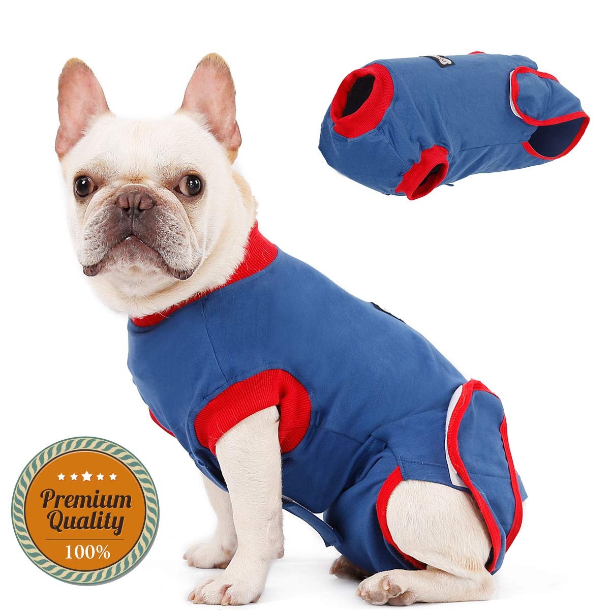 Briday Medical Pet Clothing & Professional Recovery Suit for Dog, E-Collar Alternative Anti-Licking for Post Surgery, Wounds,Skin Diseases and Bandages by Briday