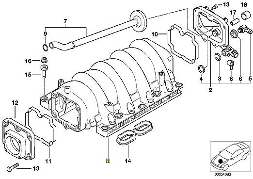 Bmw M62 Tu V8 Vanos Engine Intake Inlet Manifold 1435361 11611435361