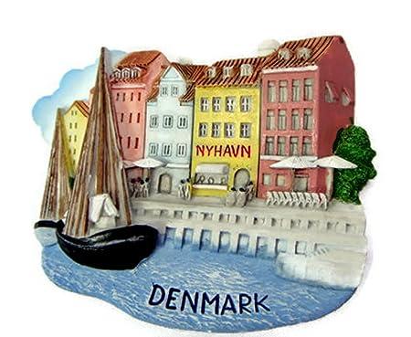 Dinamarca Nyhavn World imán para nevera Souvenir Collectibles de ...