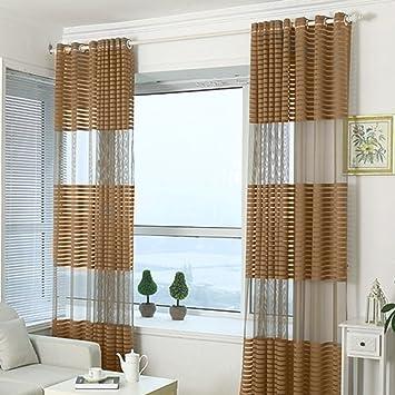 fastar cortinas salon modernas todofsforo cortinas rayadas para el dormitorio sala