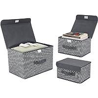 Deals on DIMJ 3Pcs Fabric Storage Bins & Storage Box w/Flip-top Lid