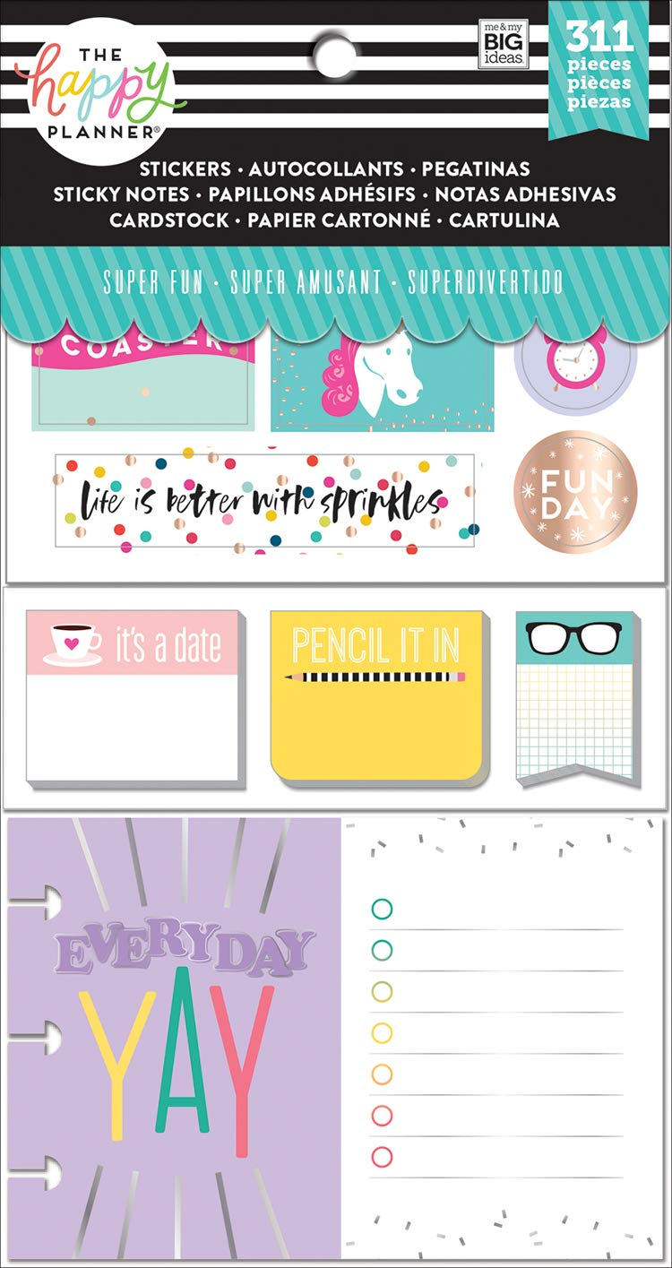 Me & My Big Ideas PLMP-02 The Happy Planner Sticker MultiPk Classic Productivity