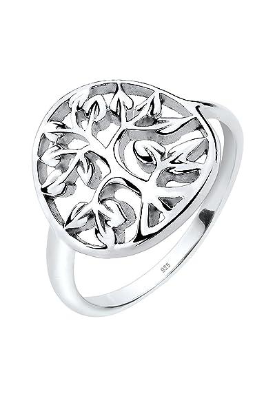 d03ebd0bed62 Árbol de la vida infantil para mujer-anillo de plata 925Elli anillo para  mujer