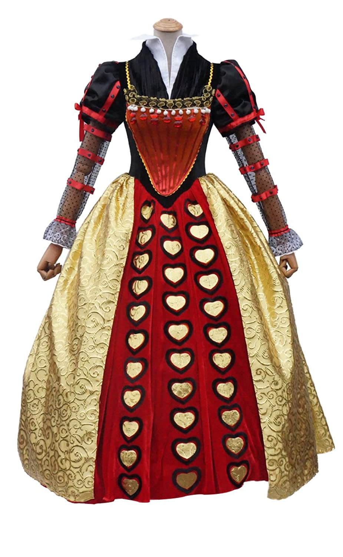 Women's Queen of Hearts Halloween Dress Costume - DeluxeAdultCostumes.com