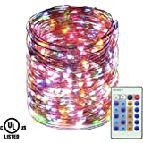 Ruichen Dimmable LED Fairy String Lights Plug in Remote, 165Ft 500 LED Waterproof Copper Wire Fairy Lights Decorative Christmas Starry Lights Bedroom,Wedding,Patio,Party(Multicolor)