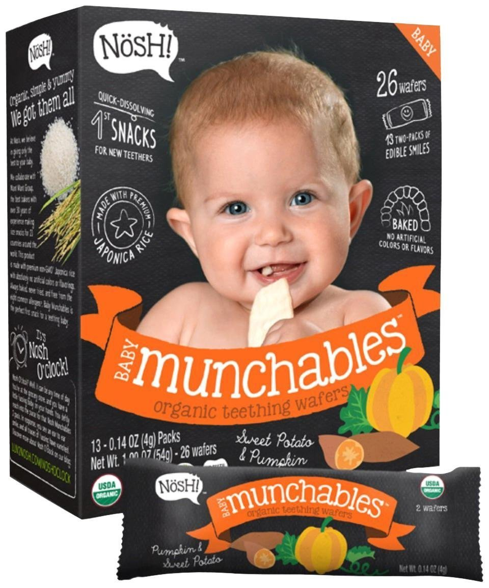 NOSH Baby Munchables Sweet Potato & Pumpkin, 6 Pack, 907g