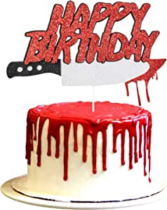 Halloween Horror Birthday Party Cake Topper, Friday the 13th Birthday Party Cake Topper, Have a Killer Birthday Party Decorations, Halloween Zombie Vampire Party Decorations Supplies