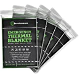 Emergency Mylar Thermal Space Blanket (5 Pack) - Made For Survival in Cold And Hot Weather Conditions - Build Your Own Waterproof Shelter - Designed for NASA and Military