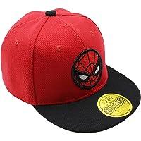 Diluma Kids Spider Man Cartoon Falt Hat Snapback Baseball Cap (Red)