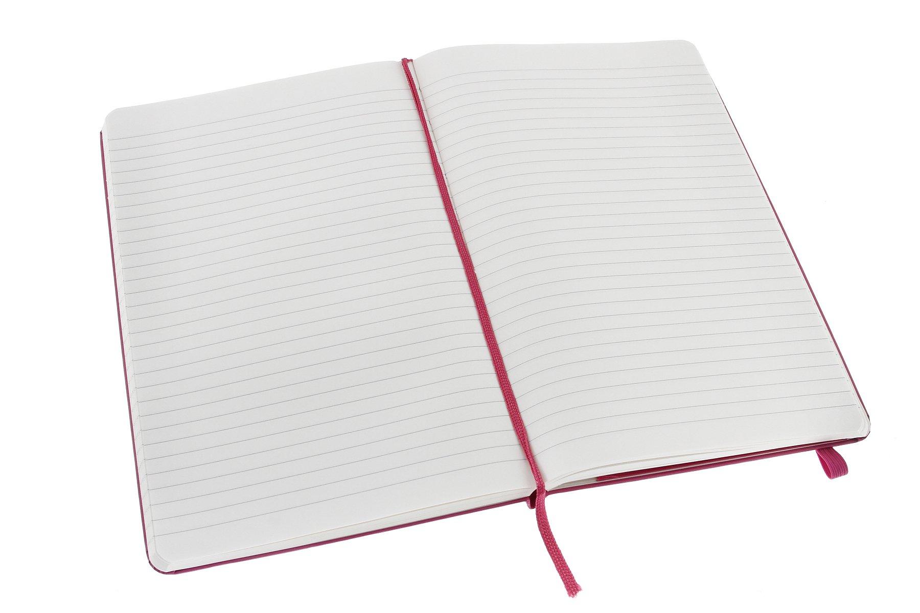 Moleskine Classic Notebook, Large, Ruled, Magenta, Hard Cover (5 x 8.25)