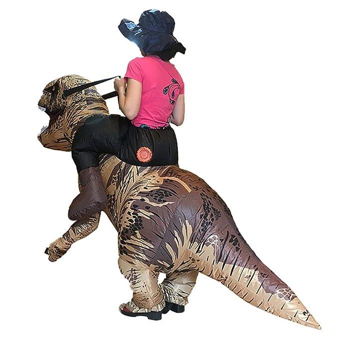 Amazon.com: Disfraz hinchable de dinosaurio T-REX para ...