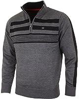 Calvin Klein Golf Men's CK Stripeblock Lined Sweater - US S - Charcoal
