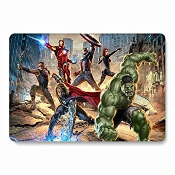 MacBook Air 13 inch Hard Case for Model A1369 / A1466 - AQYLQ Smooth Touch Matte Plastic Rubber Coated Protective Shell Cover - The Avengers 26
