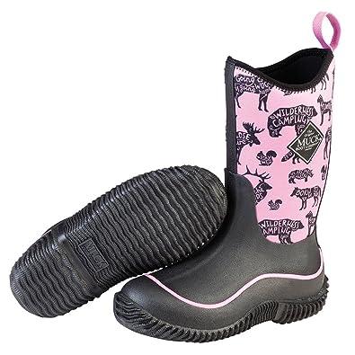 49c89f04e7fda Muck Boot Kid's Hale Waterproof Boots, Black, Neoprene, Rubber, Mesh, 2