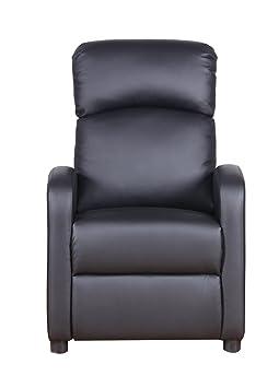 PRIXTON - Sillon Relax Electrico Reclinable de Masaje con función Calor, Mando a Distancia Incluido, Color Negro, Dimensiones 65x89x101