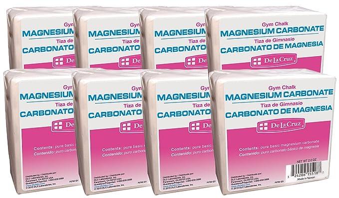 Amazon.com : De La Cruz Magnesium Carbonate (Gym Chalk)/Carbonato de Magnesia 2 OZ. (8 Blocks) : Sports & Outdoors