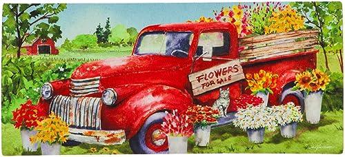 Evergreen Flag Red Flower Truck Sassafras Switch Mat – 22 x 1 x 10 Inches