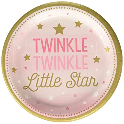 "Creative Converting 323421 Twinkle Little Star Pink 7"" Dessert Plates Party Supplies, 7"", Multicolor: Toys & Games"