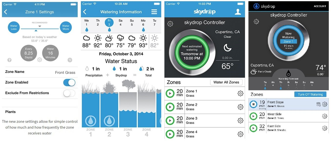 SkyDrop 8 Zone Wifi-Enabled Smart Sprinkler Controller - Expandable, Frustration Free Packaging