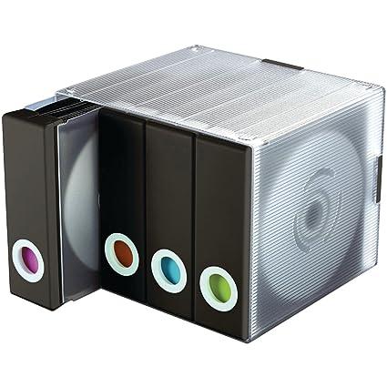 Delicieux Atlantic Disc Organizer Up To 96 Discs   Black