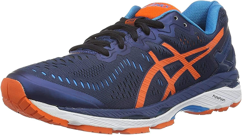 Asics Kayano 23, Zapatillas de Entrenamiento Hombre, Azul (Poseidon/Flame Orange/Blue Jewel), 39: Amazon.es: Zapatos y complementos