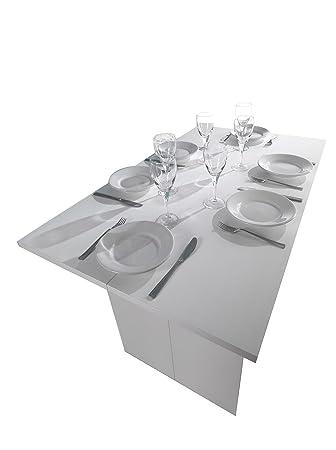 Terraneo Tavolo Consolle.Terraneo El530 Luis A1 Tavolo Consolle Estensibile 120 X Legno Composito Bianco 75 X 120 X 35 Cm