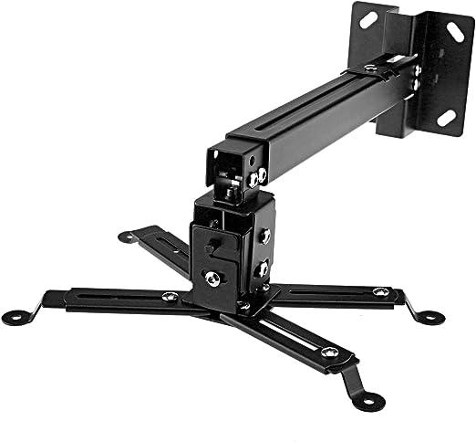 Soporte de techo montaje ajustable para proyector negro 66lbs 360 ...