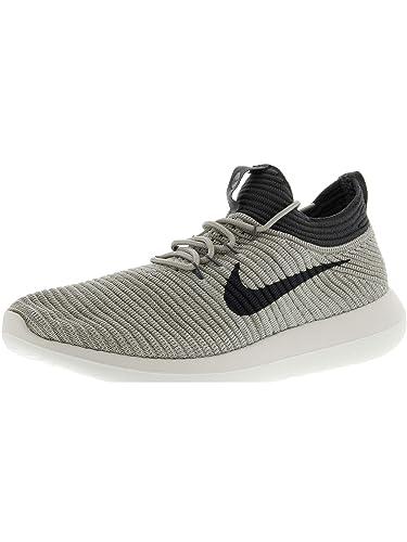 official photos ed004 da5ef Nike Women's W Roshe Two Flyknit V2, Pale Grey/Dark Grey ...