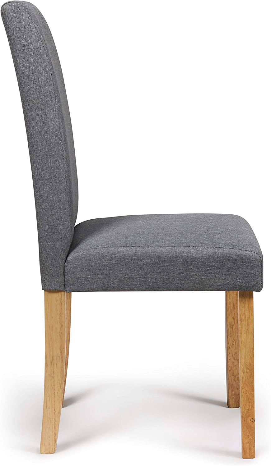 2 Dining Chairs Grey Marl Fabric Torino With Padded Seat